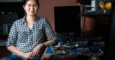Associate professor Vivienne Sze is bringing artificial intelligence applications to smartphones and tiny robots by co-designing energy-efficient hardware and software.